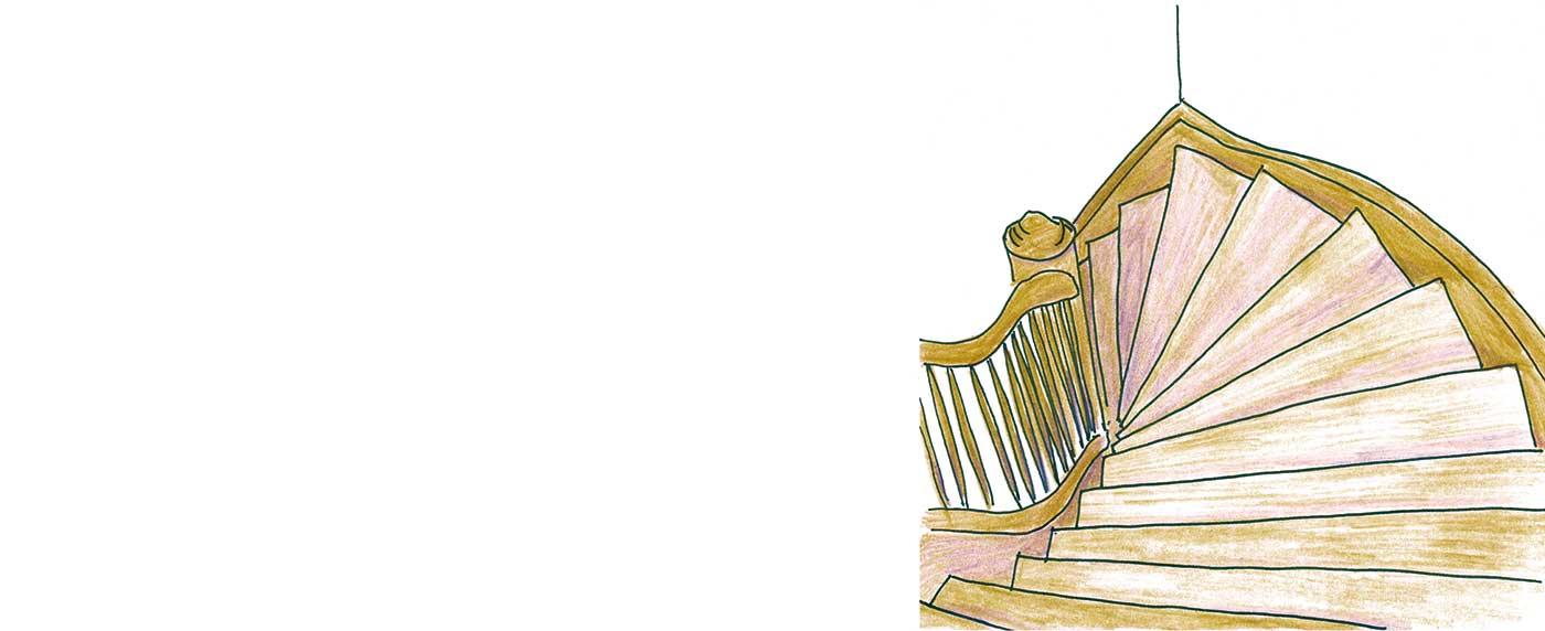Die zwei Leben des Herrn Richie - Treppe