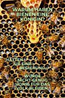 Warum haben Bienen eine Königin? Hätten sie eine Regierung, würde nicht genug Honig für das Volk bleiben. - Geistes(bl)witze