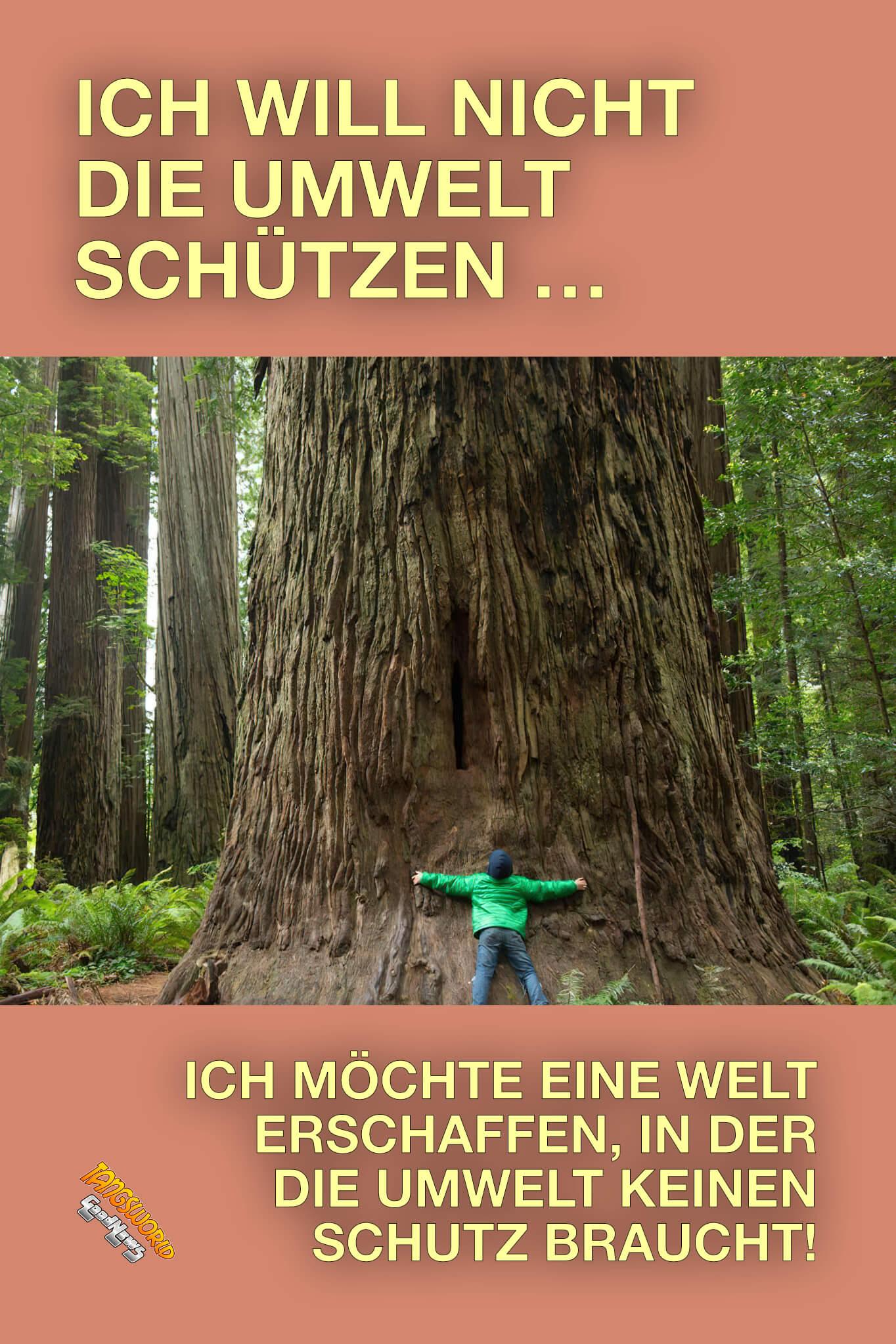 Ich will nicht die Umwelt schützen. Ich möchte eine Welt erschaffen, in der die Umwelt keinen Schutz braucht! - GoodNews