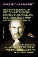 Eure Zeit ist begrenzt. Vergeudet sie nicht damit, das Leben eines anderen zu leben. … - Geistesblitze | Steve Jobs
