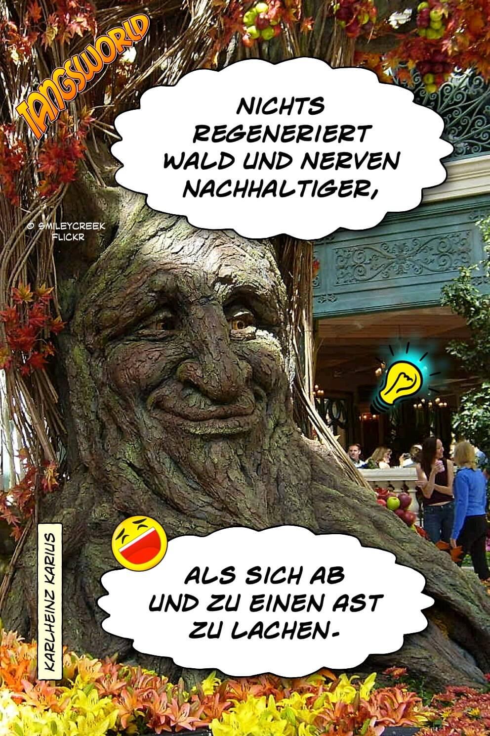 Nichts regeneriert Wald und Nerven nachhaltiger, als sich ab und zu einen Ast zu lachen. - Geistes(bl)witze | KarlHeinz Karius