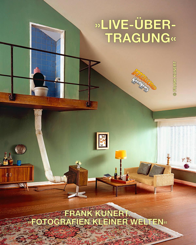 »Live Übertragung« - aus Werkreihe des Fotografen Frank Kunert: »Fotografien kleiner Welten« - GoodNews | Frank Kunert 2012