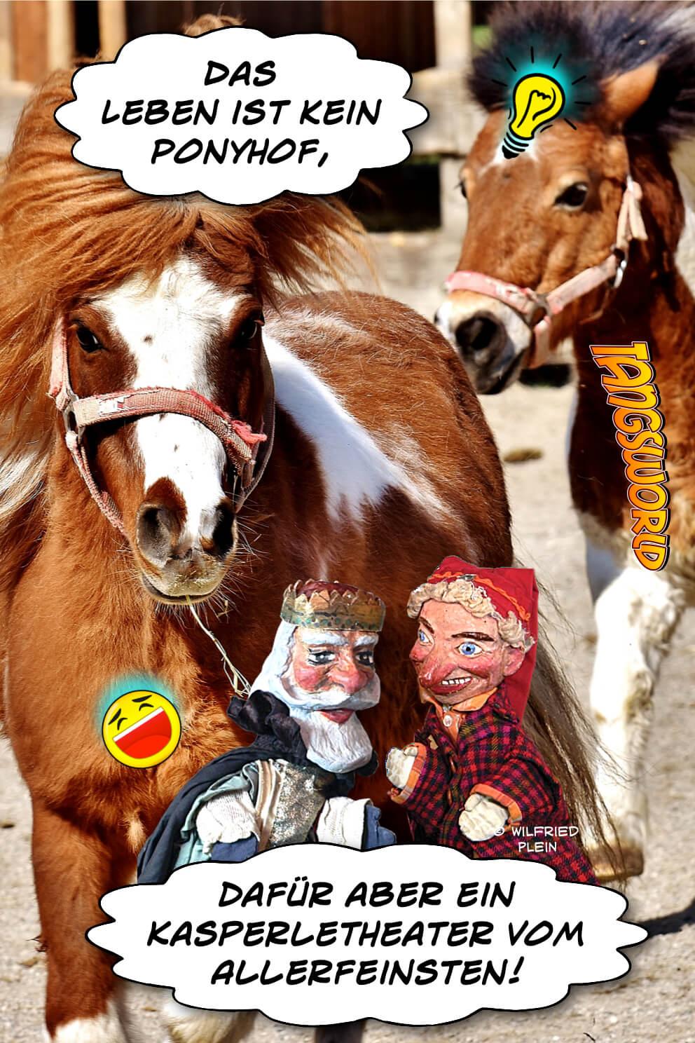Das Leben ist kein Ponyhof - dafür aber ein Kasperletheater vom Allerfeinsten! - Geistes(bl)witze